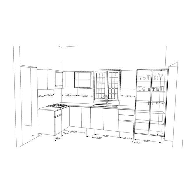 Buy Robin Ultra-Mod L-Shaped Kitchen Online