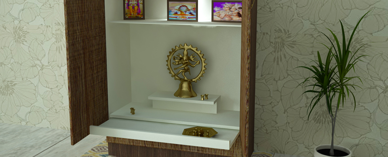 Pooja room interior designers in kochi kerala homelane - Pooja room door designs in kerala ...