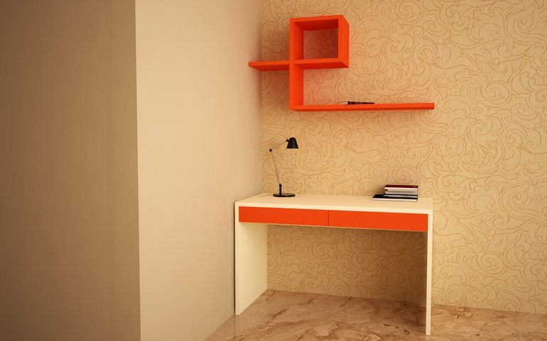 Flamingo Minimalistic Study Unit