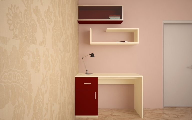 Flamingo Multifunctional Study Unit With Wardrobe