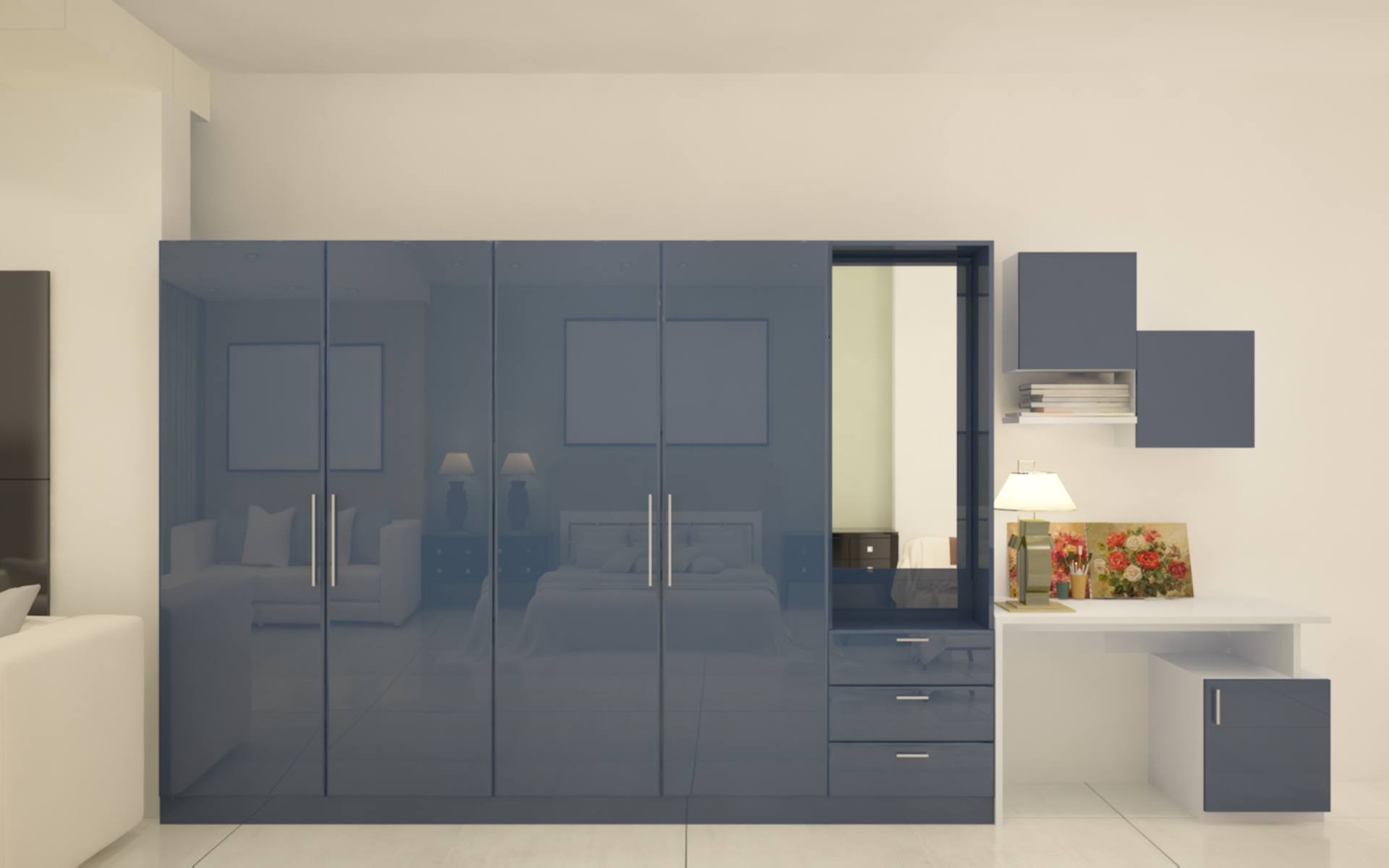 Paprika Multifunctional Hinged Wardrobe