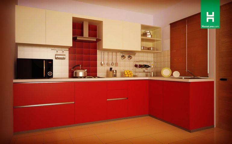Buy Robin Cardinal L Shaped Kitchen Online Homelane India