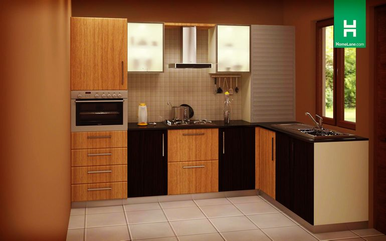 Buy heron glorious l shaped kitchen online homelane india for 10 x 7 kitchen ideas