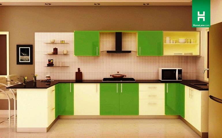 Condor Retro U-Shaped Kitchen (with Breakfast Counter)