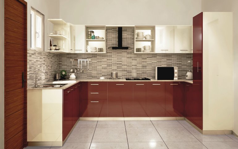 Buy modular latest budget kitchens online india for Latest model kitchen designs