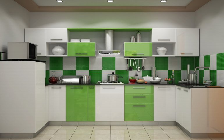 Heron Novel U Shaped KitchenBuy Modular  Latest  Budget Kitchens online India   HomeLane com. U Shaped Modular Kitchen Design. Home Design Ideas