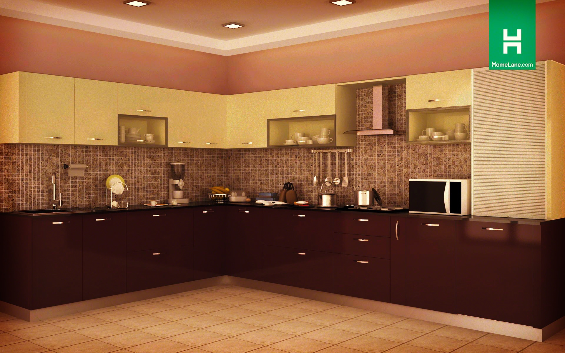 Indian kitchen design blog - Condor Opulent L Shaped Kitchen