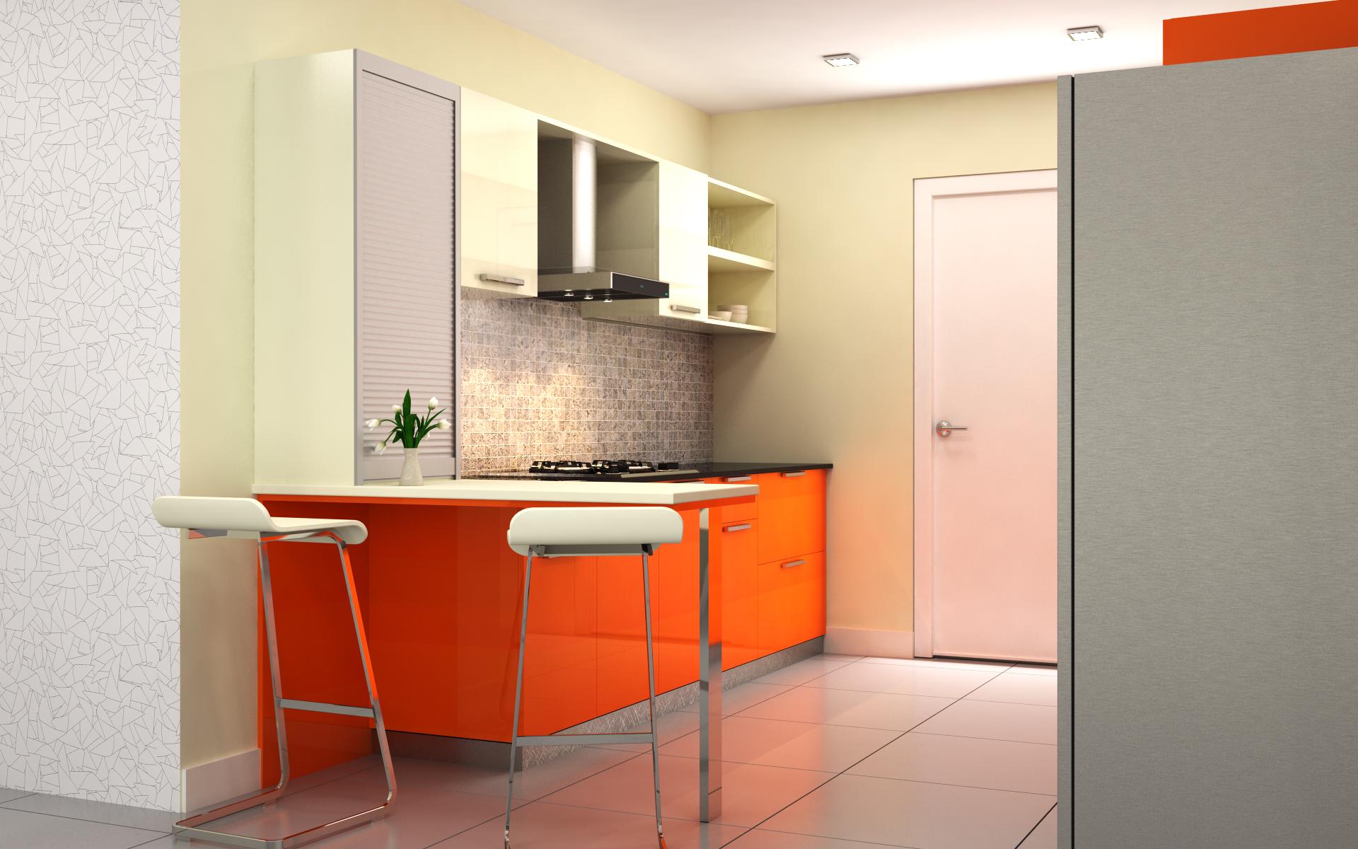 1 bhk flat interior design india - Buy Modular Latest Budget Kitchens Online India Homelane Com Condor Urban Parallel Kitchen