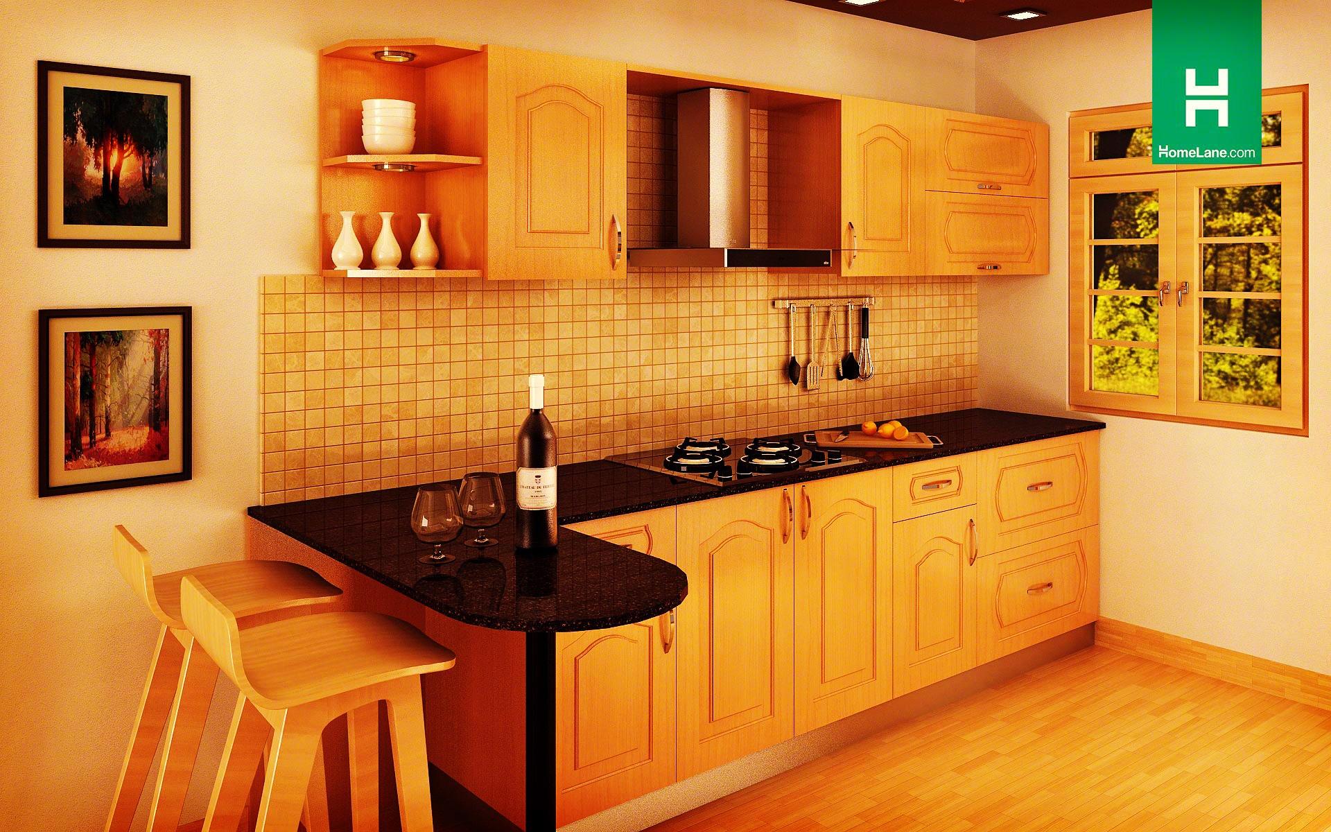 Heron Retro Parallel Kitchen (With Breakfast Counter) Part 77