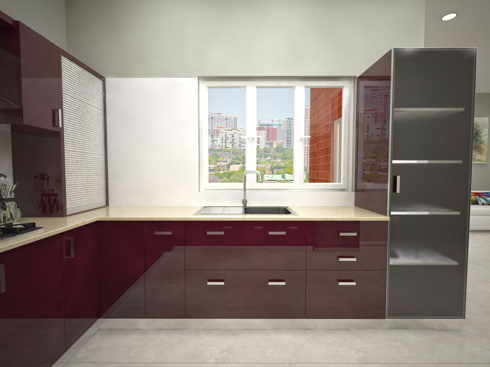 Homelane for Modular kitchen designs for 10 x 8
